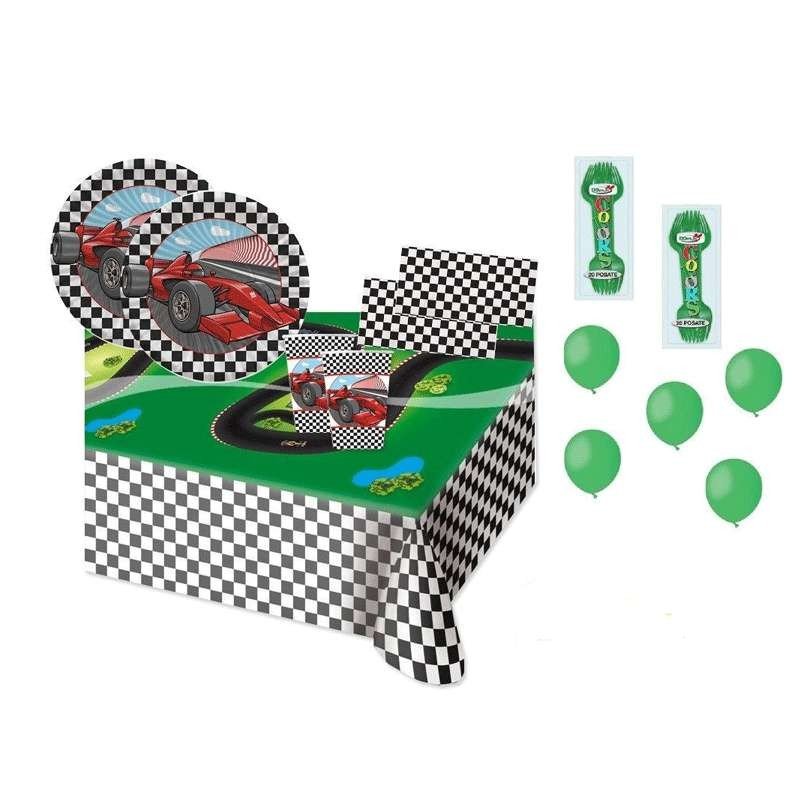 KIT N.6 FORMULA 1 NEW – SET TAVOLA CON FORCHETTE E PALLONCINI
