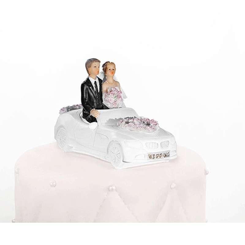 CAKE TOPPER SPOSI IN AUTO – DECORAZIONE WEDDING CAKE