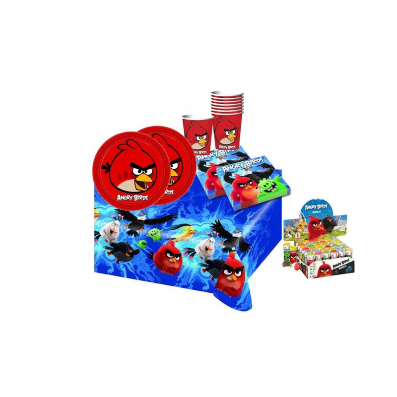 ANGRY BIRDS + BOLLE DI SAPONE KIT COMPLEANNO N 5