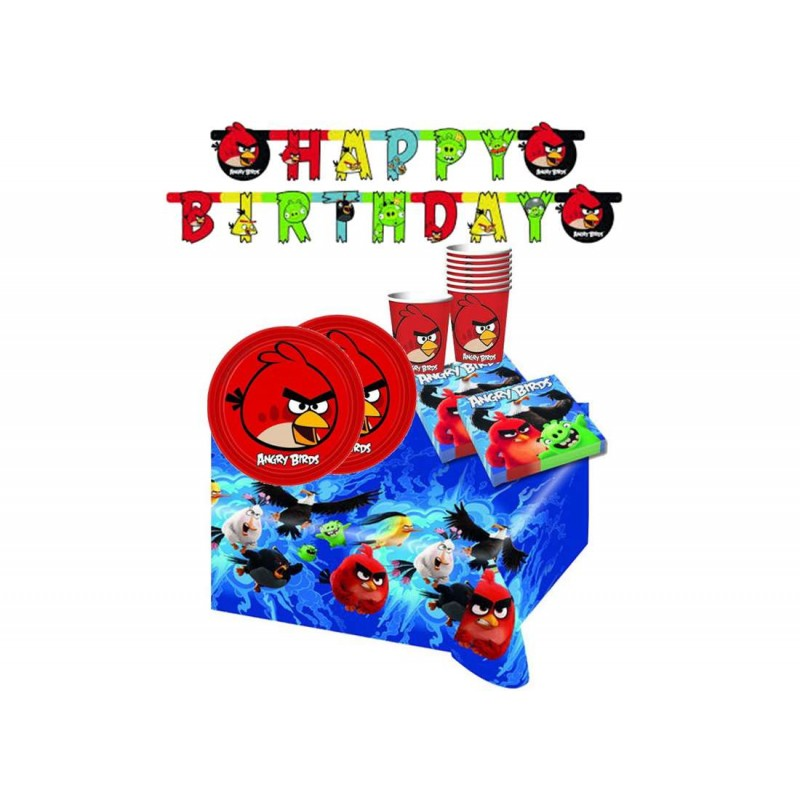 KIT N 13 COORDINATO COMPLEANNO ANGRY BIRDS