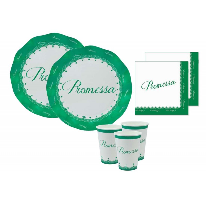 KIT N.2 PROMESSA NEW - SET TAVOLA PROMESSA DI MATRIMONIO