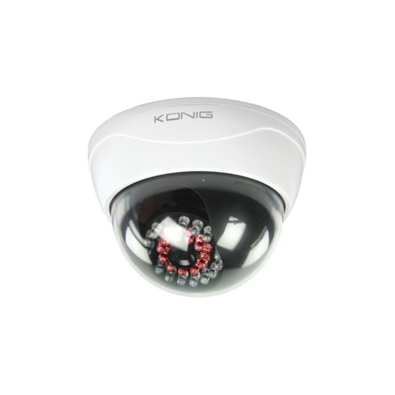 SEC-DUMMYCAM95 TELECAMERA FINTA CCTV A CUPOLA CON 25 LED IR KONIG