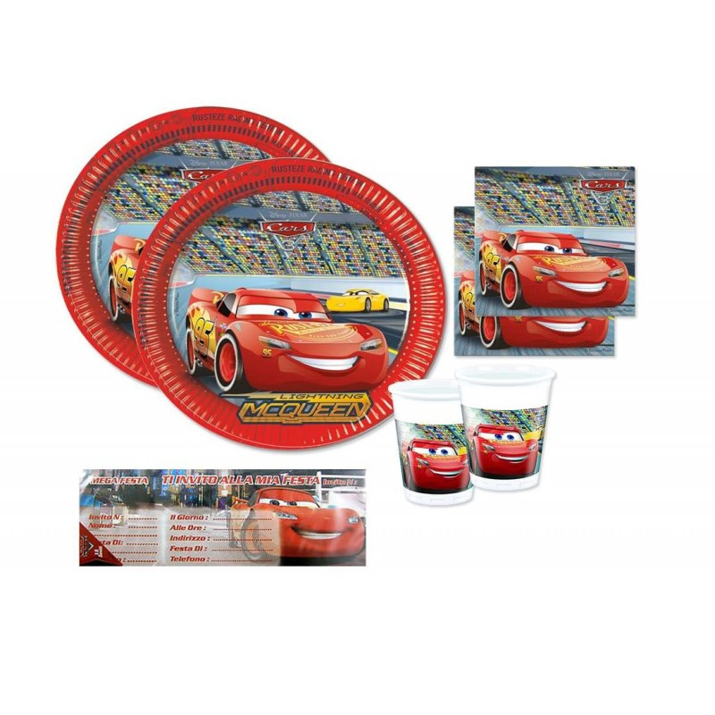 set compleanno cars