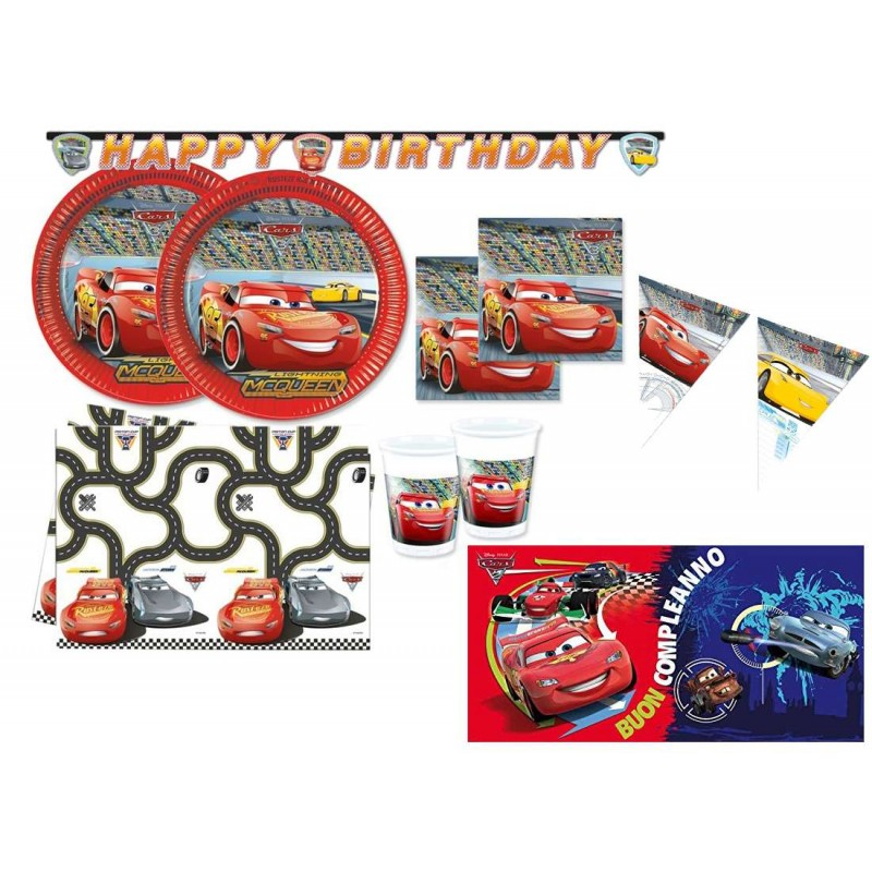 cars disney set compleanno