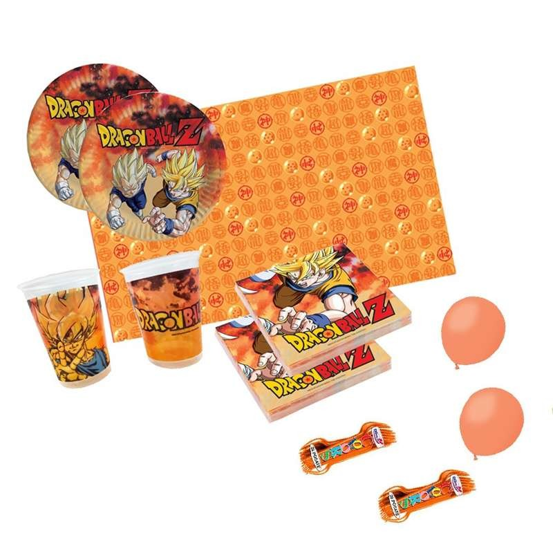 KIT N.6 DRAGON BALL - SET PER FESTA DI COMPLEANNO