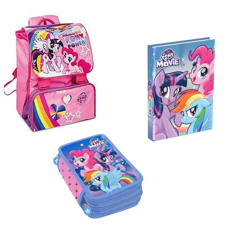 ZAINO ASTUCCIO E DIARIO MY LITTLE PONY