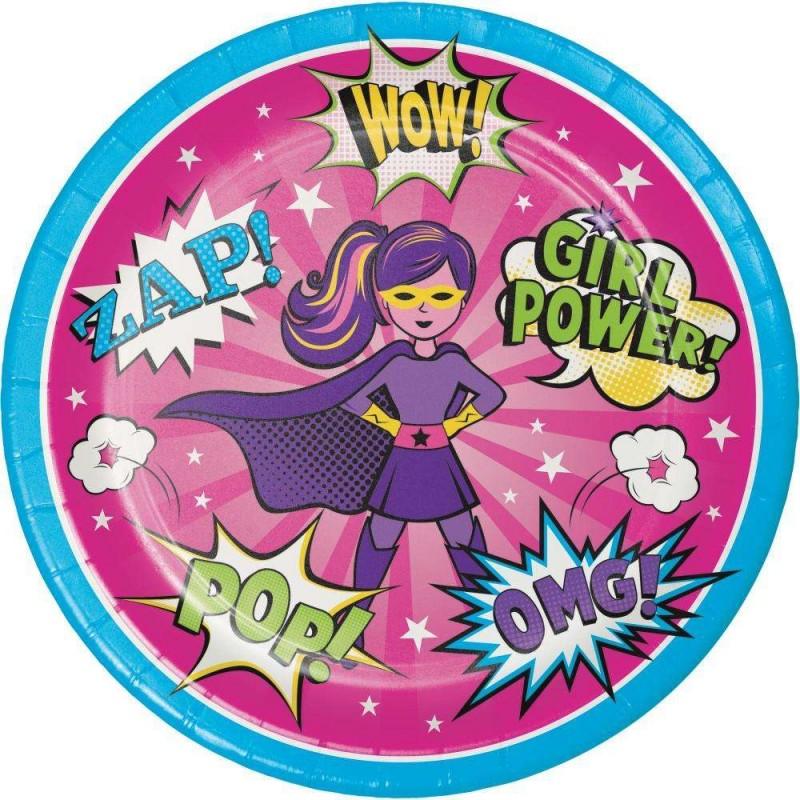 PIATTI SUPER HEROES GIRL - SET TAVOLA EROINE