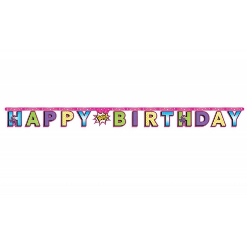 GHIRLANDA SUPER HEROES - HAPPY BIRTHDAY