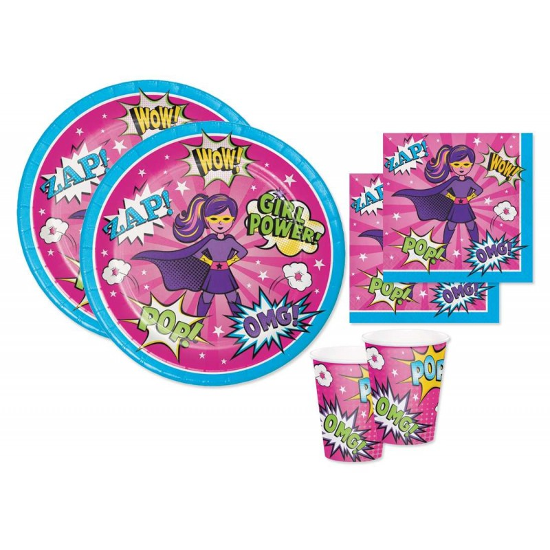KIT N.2 SUPER HEROES GIRL – SET TAVOLA PER FESTE