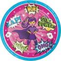 KIT N.16 SUPER HEROES GIRL - SET TAVOLA PER FESTE