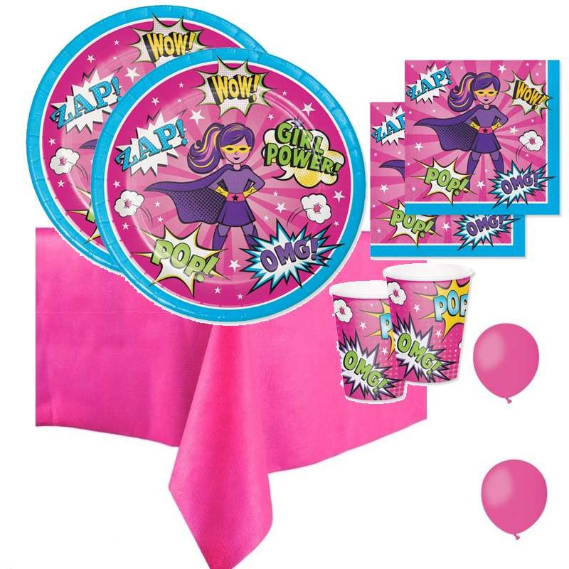 KIT N.21 SUPER HERO GIRL – ACCESSORI PER LA TAVOLA