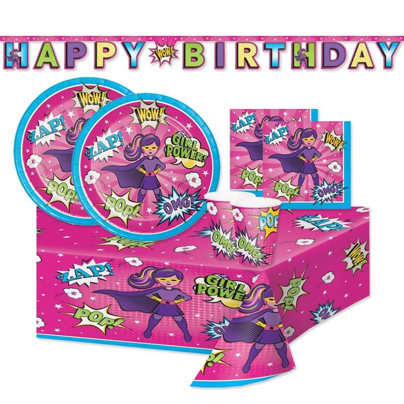 KIT N.13 SUPER HERO GIRL - ACCESSORI PER LA FESTA