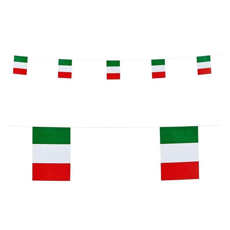 BANDIERINE ITALIA DA APPENDERE – BANDIERE TRICOLORE ROSSO BIANCO E VERDE