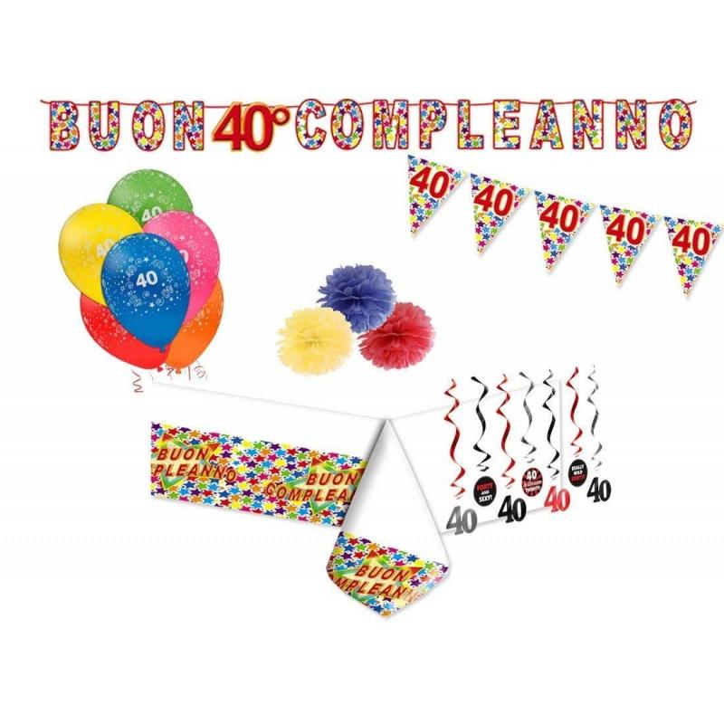 Eccezionale Addobbi e decorazioni per compleanno di 40 anni - set party JX96