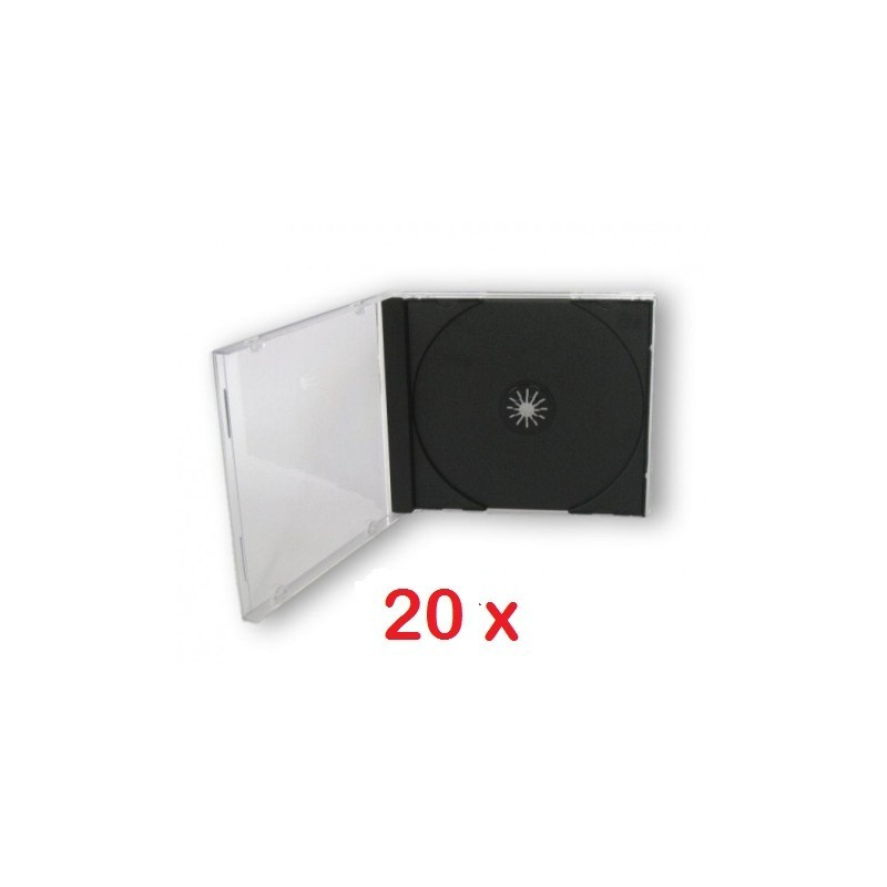 ICA-CD 001 20 X PORTA CD JEWEL CASE NERO 10,4MM