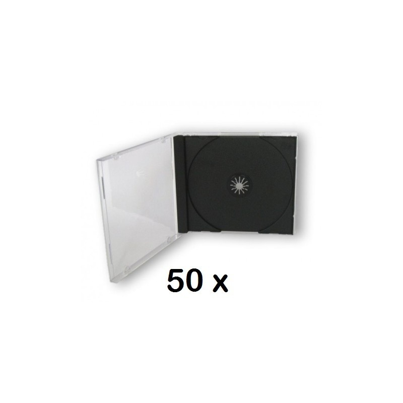 ICA-CD 001 50 X PORTA CD JEWEL CASE NERO 10,4MM