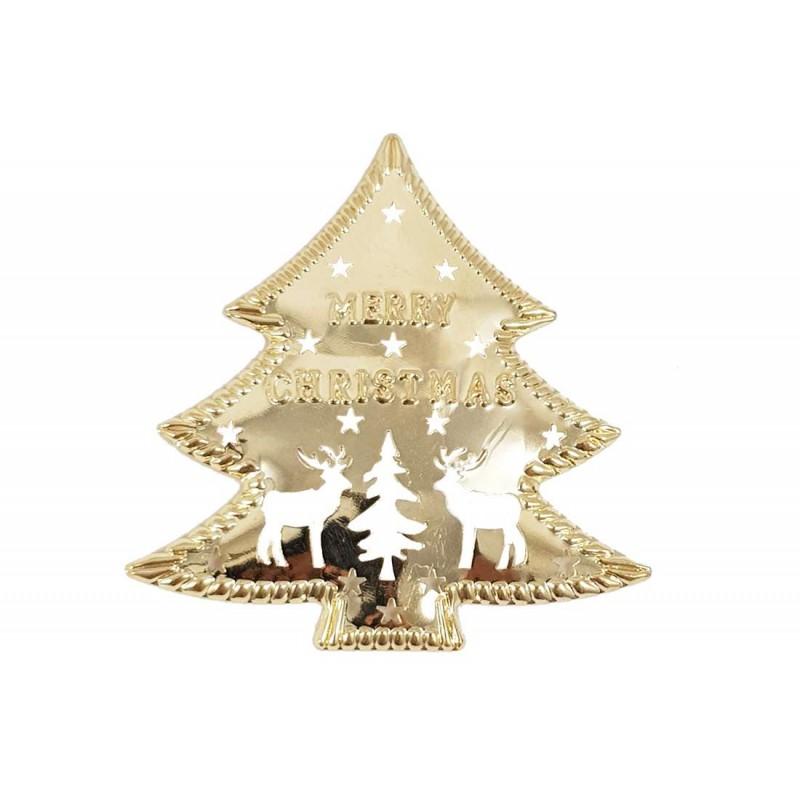 Immagini Natale Oro.Albero Di Natale Di Metallo Color Oro 20 Pz