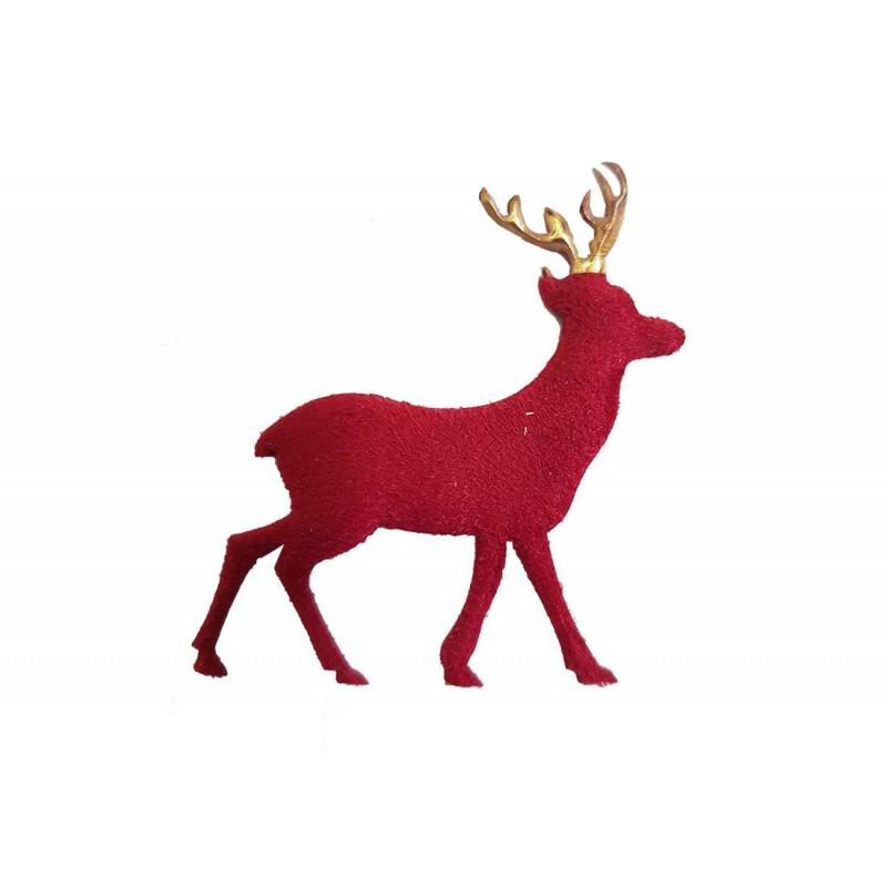 Immagini Renne Natale.Renne Natalizie In Tessuto Rosse O Bianche 50 Pz