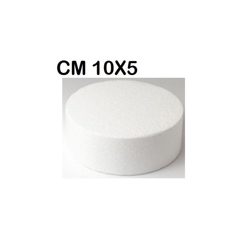 2 X BASE POLISTEROLO CERCHIO CM 10 X 5 PER DOLCI ESPOSIZIONI