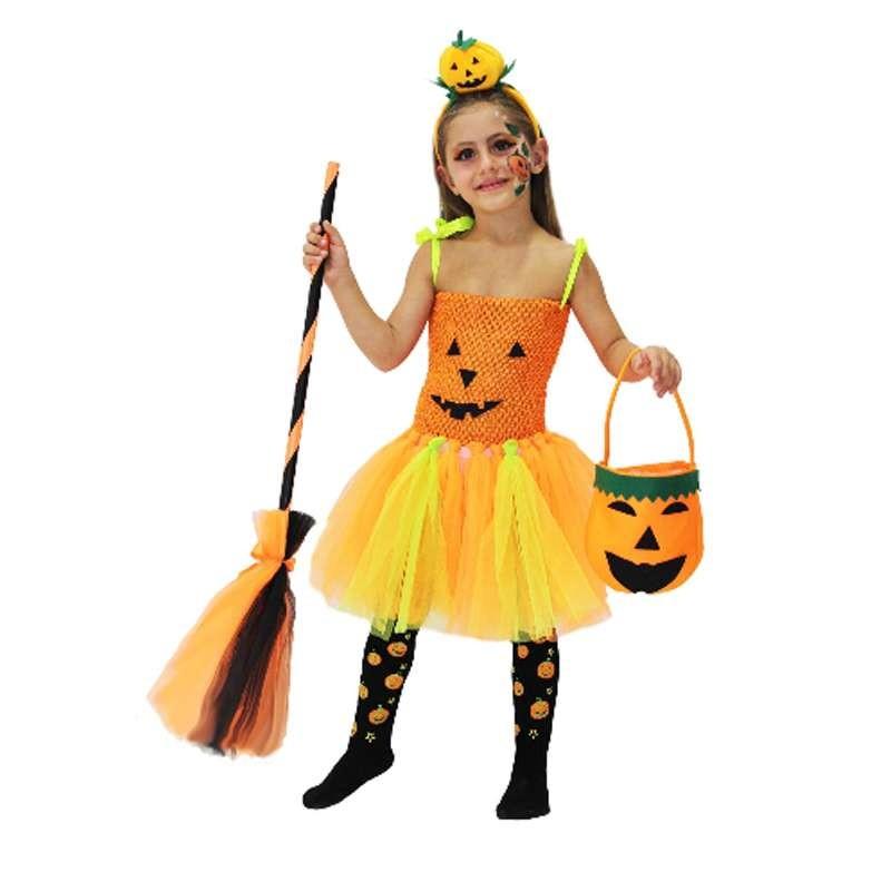 nuovo arrivo prezzo ragionevole ben noto Costume di zucca di halloween - vestito per bambina