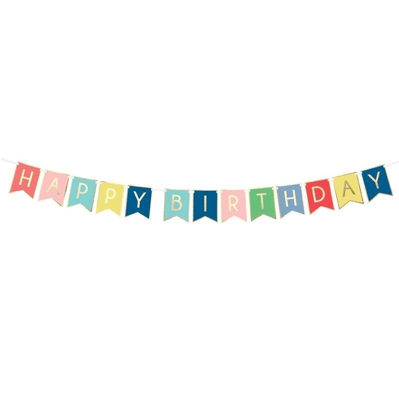GHIRLANDA HAPPY BIRTHDAY MULTICOLOR – 1,75 mt