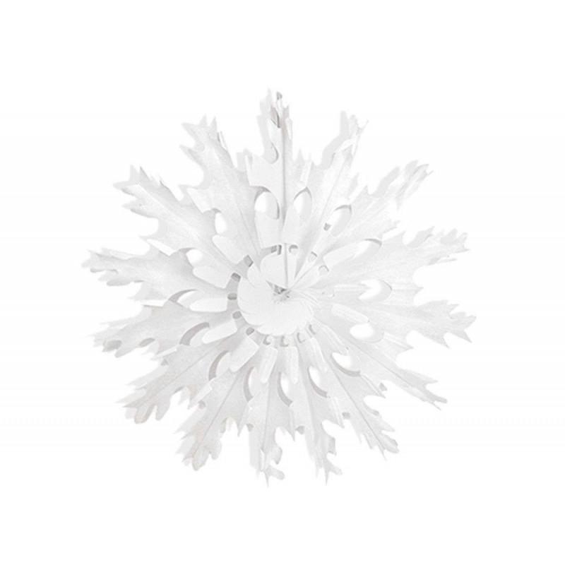 Decorazioni Natalizie Fiocchi Di Neve.Fiocchi Di Neve In Carta Bianchi Decorazioni Natalizie Da Appendere