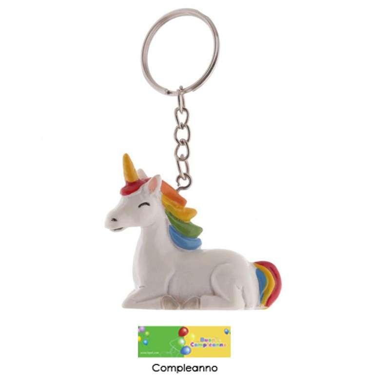 unicorno portachiavi  Portachiavi unicorno - gadget unicorn per feste 6 pz
