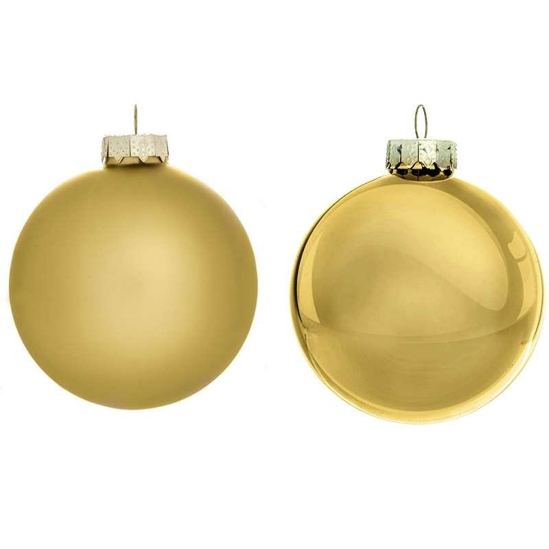 Immagini Palline Natalizie.Palline Di Natale Oro Palle Albero Natalizio Lucide E Opache