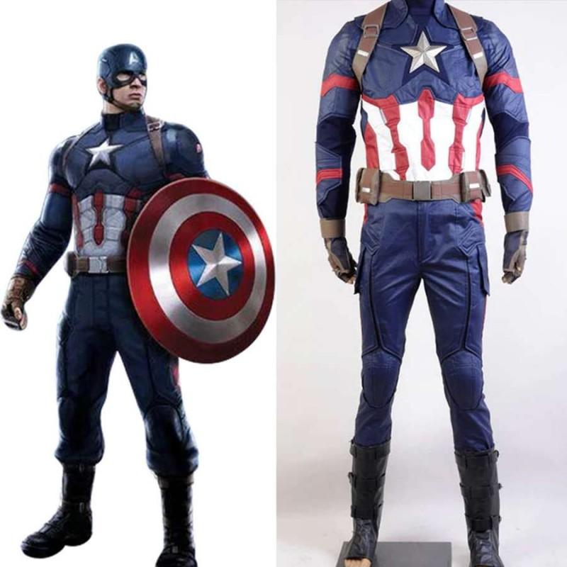 vari design spedizione gratuita primo sguardo Costume Capitan America per adulti