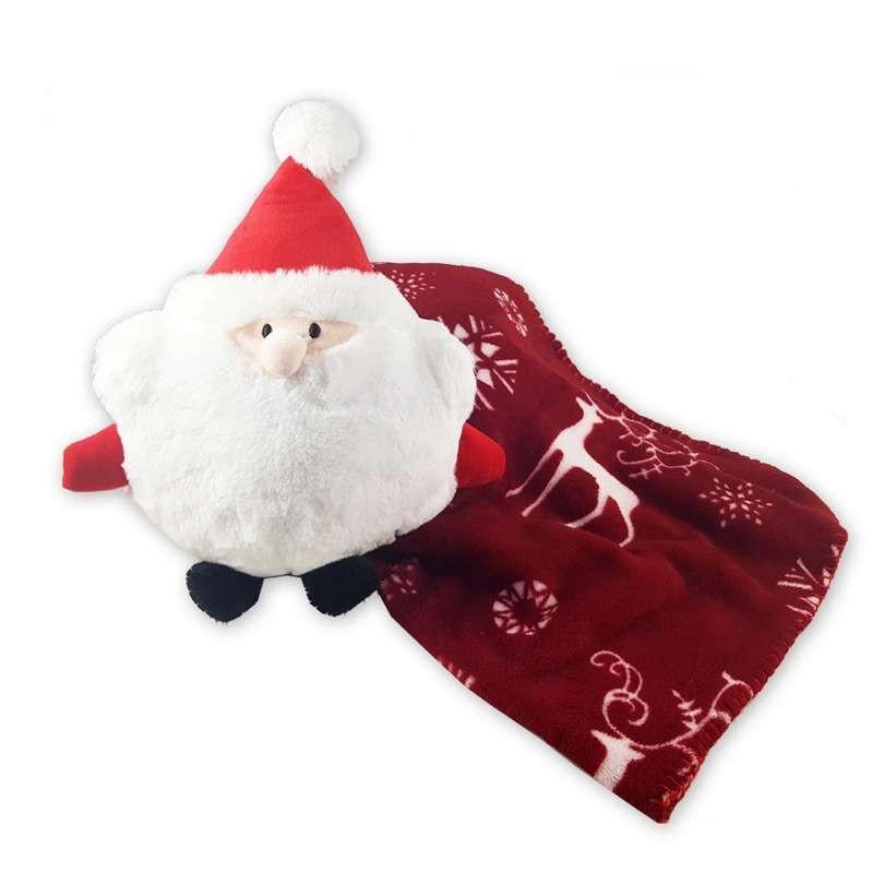 Babbo Natale Peluche.Copertina Pile Natalizia Con Babbo Natale Peluche