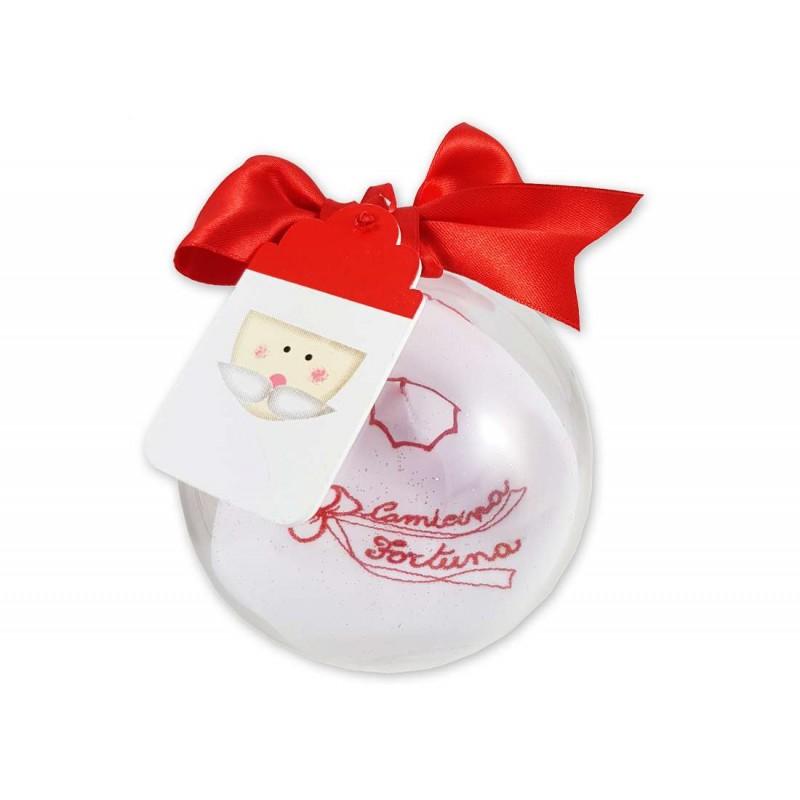 Pallina di Natale con camicina della fortuna - idea regalo Natalizia per neonato