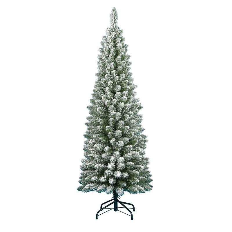 Alberi Di Natale Finti.Albero Di Natale Innevato Da 240 Cm Abete Finto Ecologico