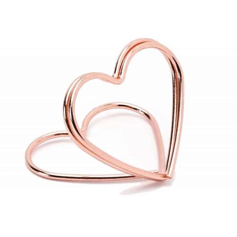 Segnaposto cuore rosa gold - 20 pz