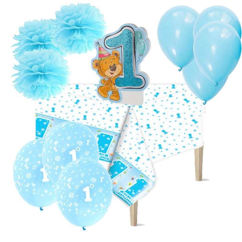 Allestimento tavolo primo compleanno bambino - con orsetto