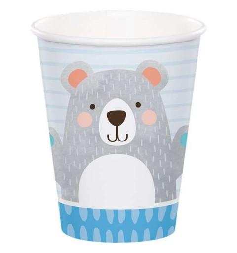 Bicchieri orso grigio - 8 pz