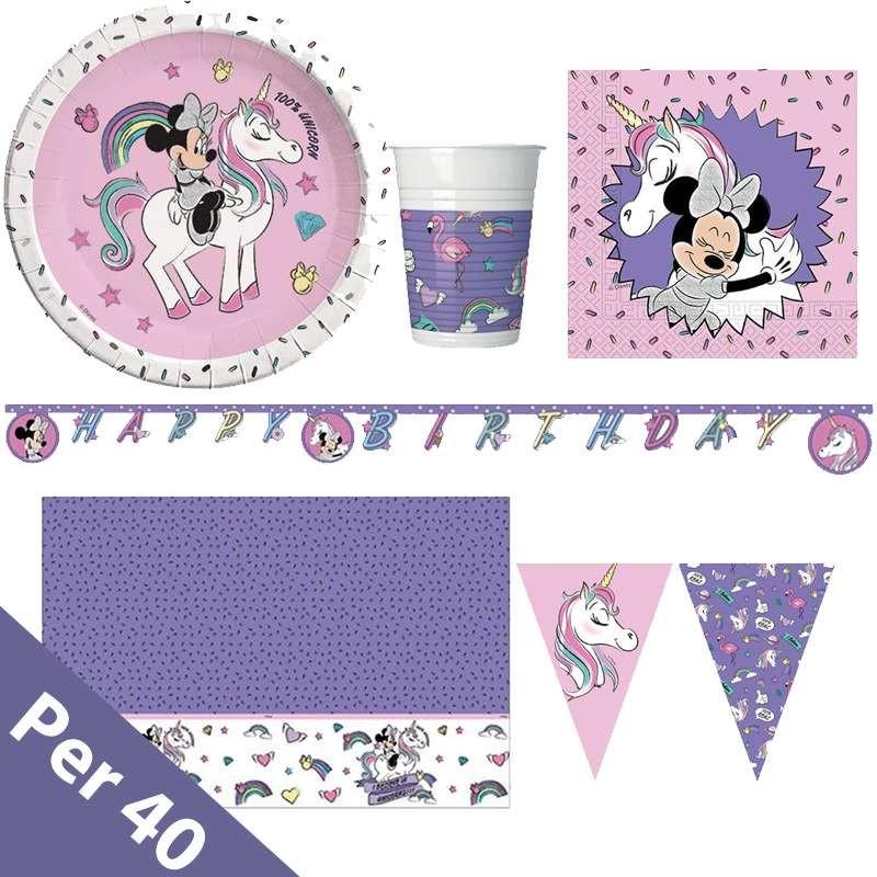 Kit N 17 Minnie Unicorn Addobbi Per Festa Di Compleanno