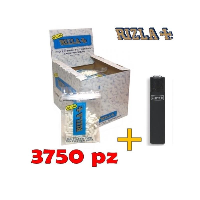 3750 FILTRI RIZLA SLIM IN BUSTA + ACCENDINO
