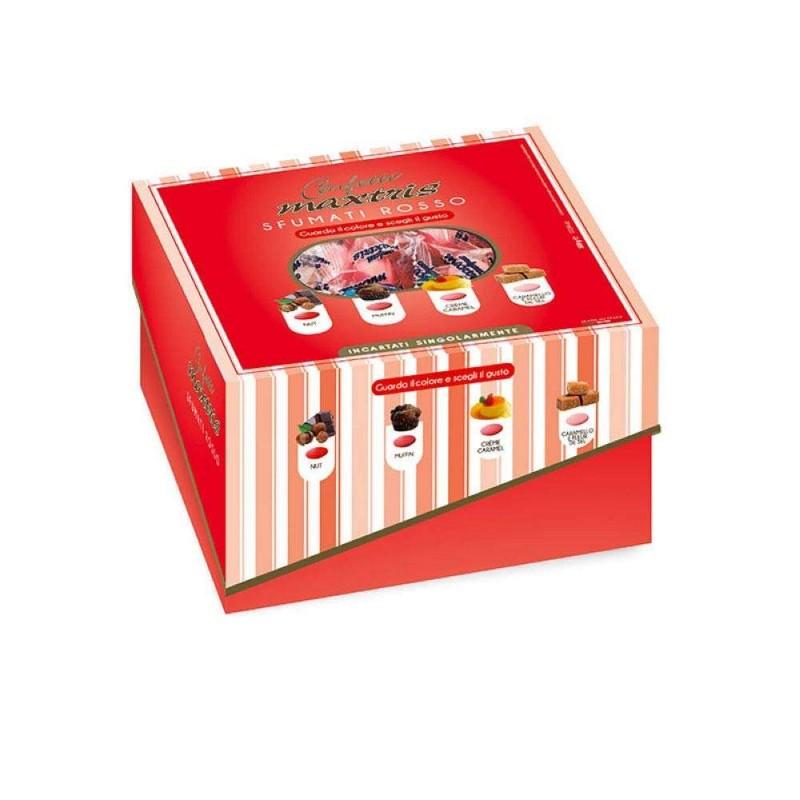 Confetti Maxtris rossi incartati singolarmente - 500 gr