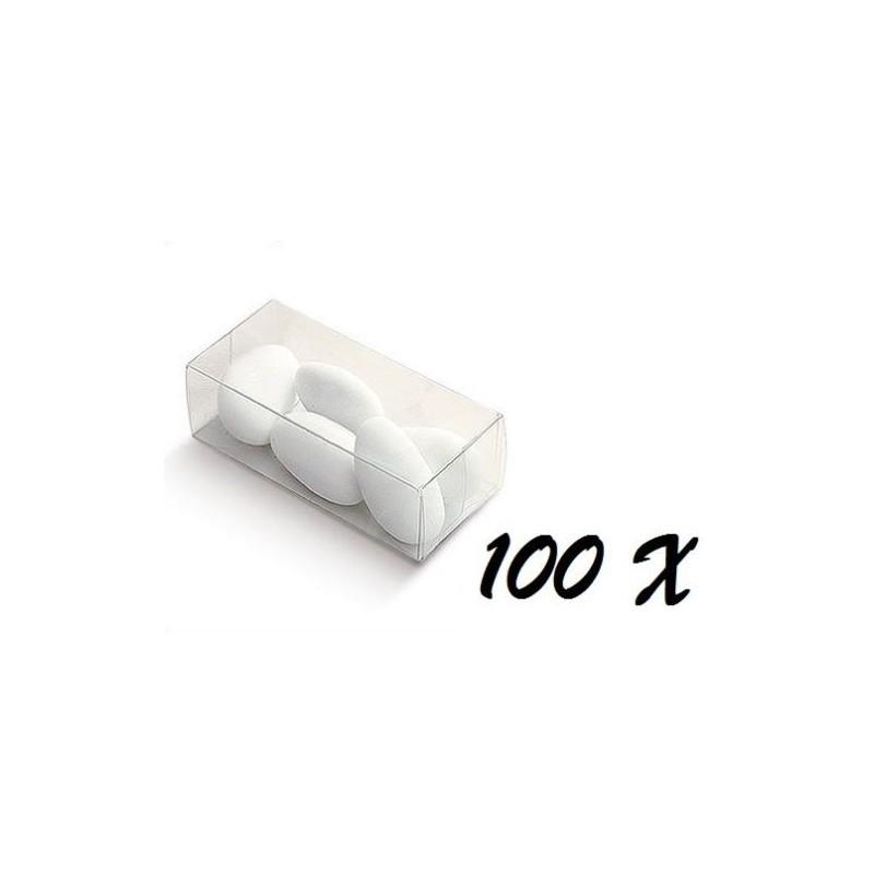 100 SCATOLINE PORTACONFETTI QUADRATE 03750