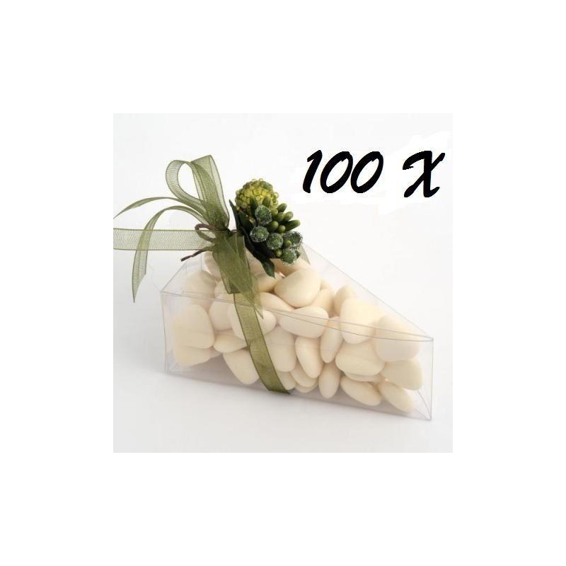 100 SCATOLINE PORTACONFETTI TRIANGOLARI