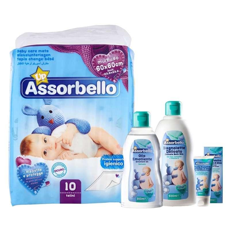 Assorbello kit igiene per il bambino
