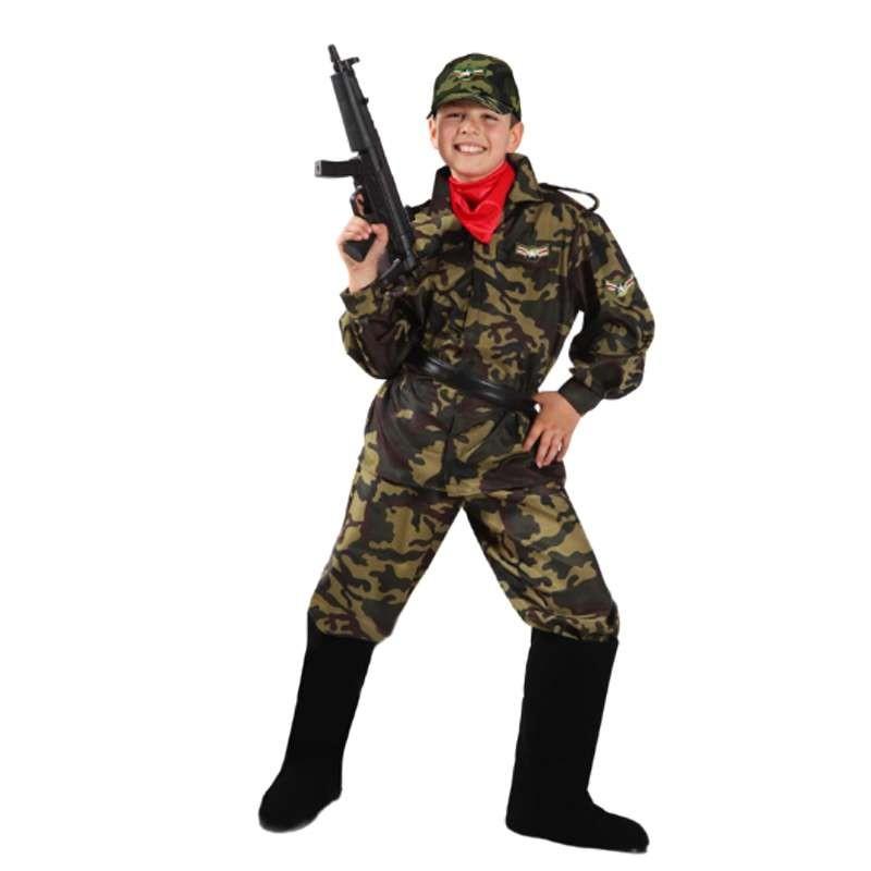 a888671db5e9 Costume militare bambino - mimetica per carnevale