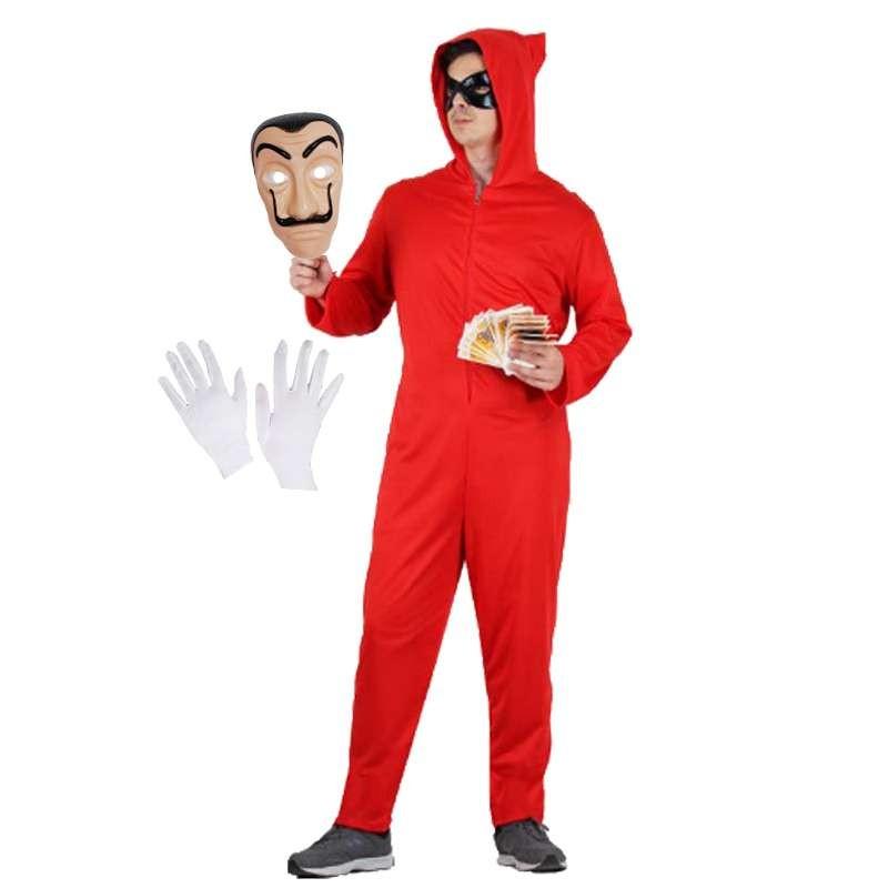 d84d866db3d7 Costume e maschera la casa di carta - travestimento ladro completo