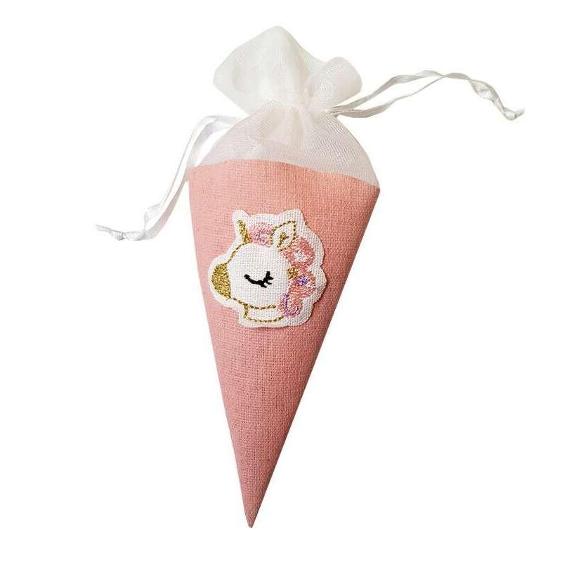Coni unicorno porta confetti, riso, caramelle - 12 pz