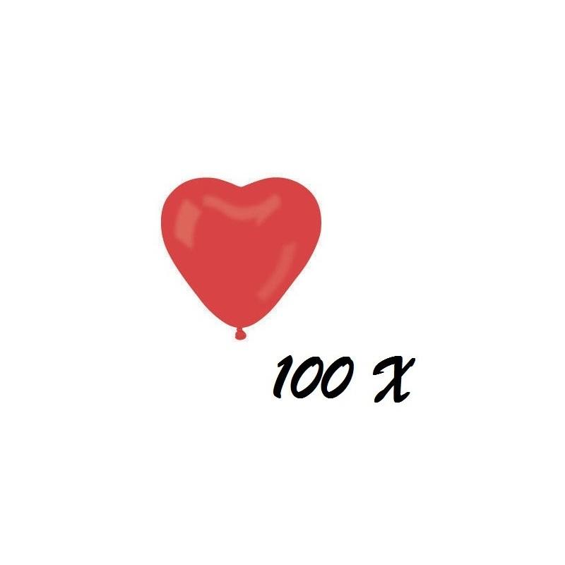 100 PALLONCINI CUORE ROSSO