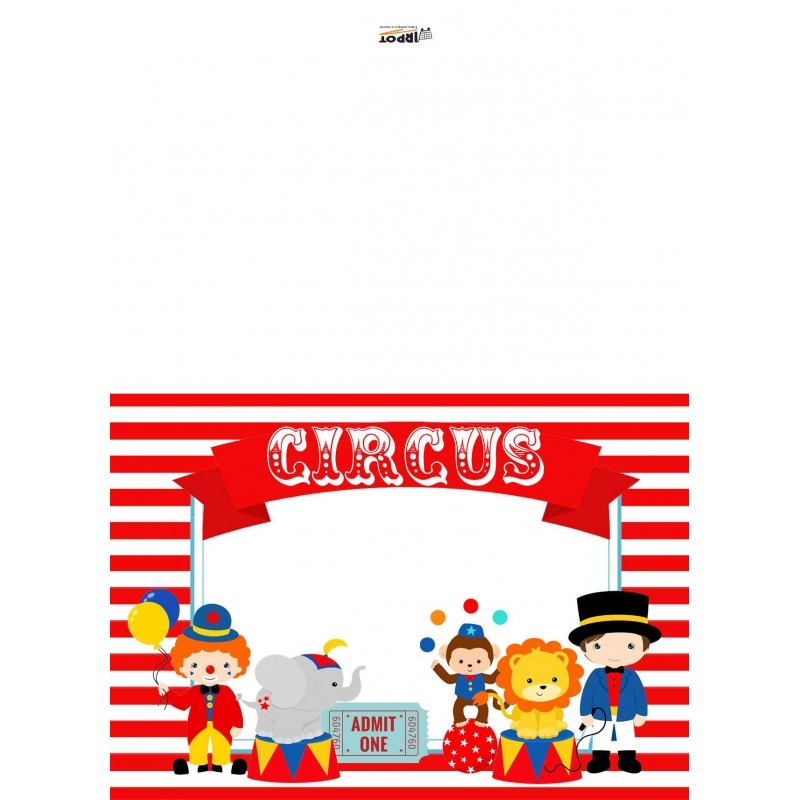 Targhette segnaposto segnagusto circo - 9 pz