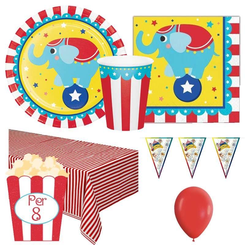 Immagini Compleanno Bimbi.Kit N 1 Coordinato Tavola Tema Circo Set Compleanno Bimbi Bambini