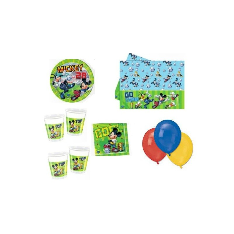 KIT N4 209 PZ COMPLEANNO BAMBINO TOPOLINO GOAL