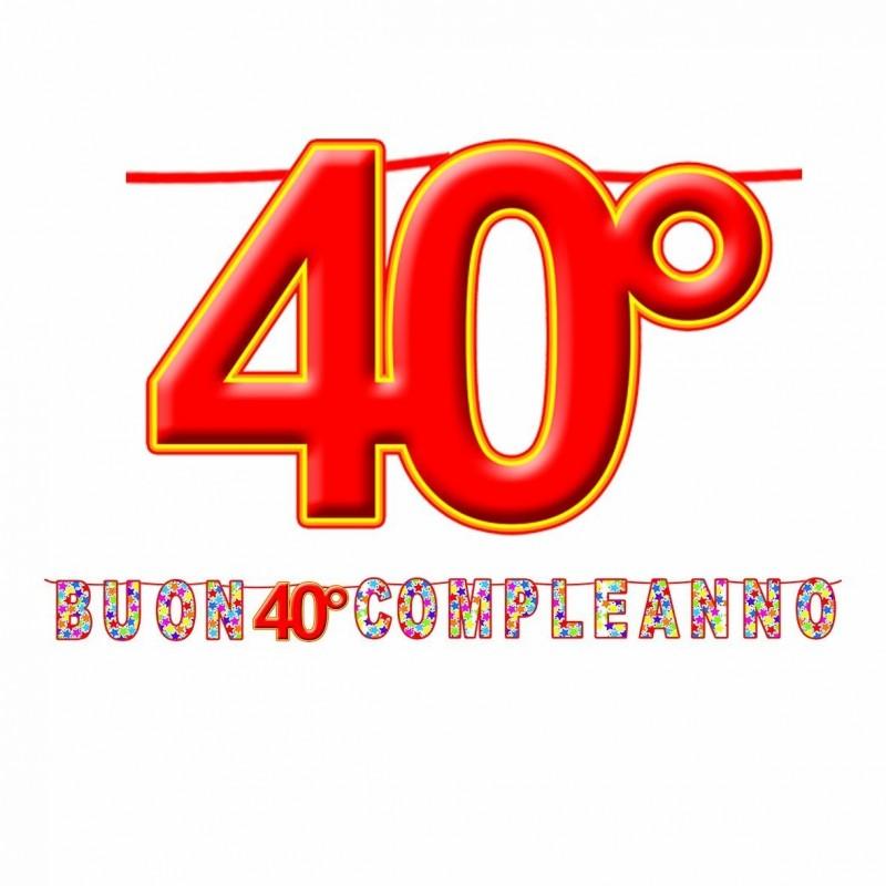 FESTONE COMPLEANNO 40 ANNI
