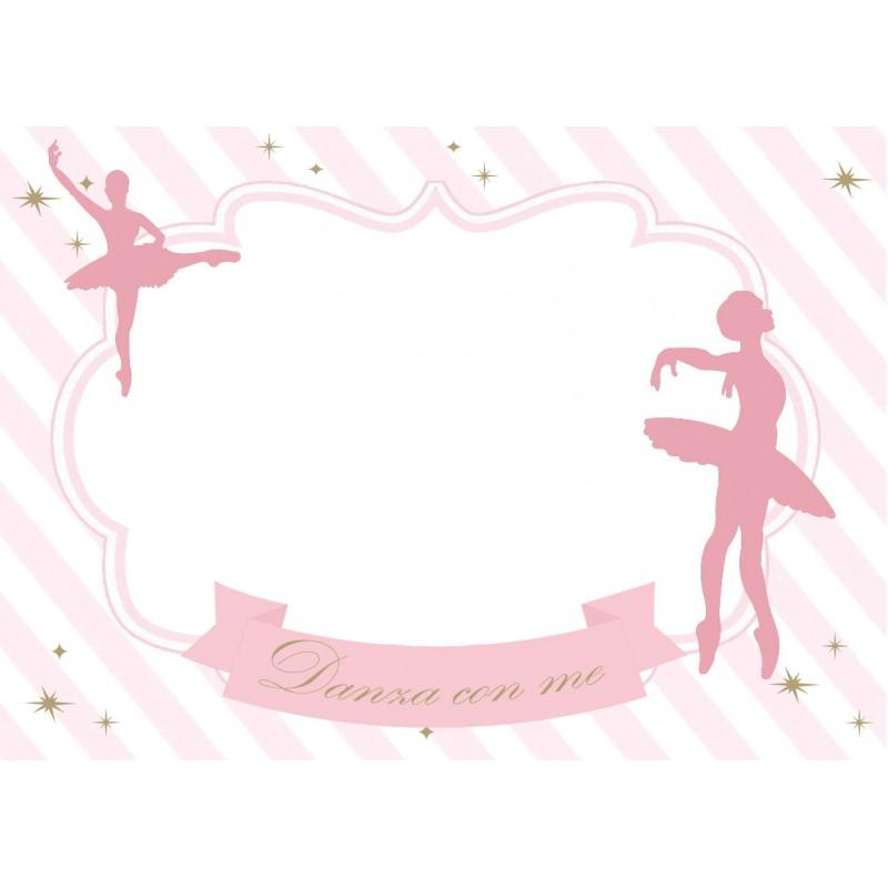 Targhette segnaposto ballerina segnagusto - 9 pz
